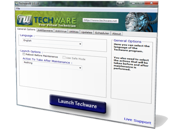 Techware screenshot main