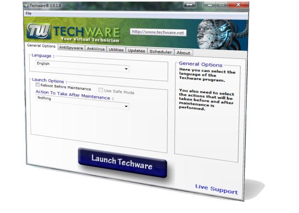 Techware screenshot main